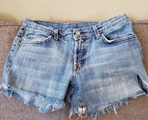 7 jeans distressed shorts